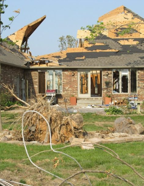 home with significant damage after Hurricane in Florida